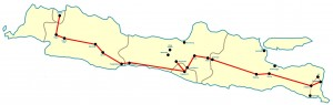 Kaart Hoogtepunten Java