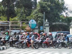 Yogyakarta - verkeersdrukte
