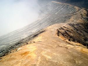 Kraterrand Ijen vulkaan