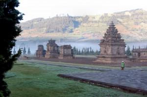 Arjuna tempels Dieng Plateau