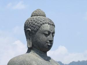 Borobudur - Boeddhabeeld